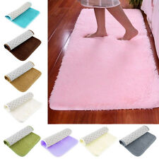 Soft Anti-skid Carpet Rugs Shaggy Mat For Home Living Dining Bedroom Floor  R