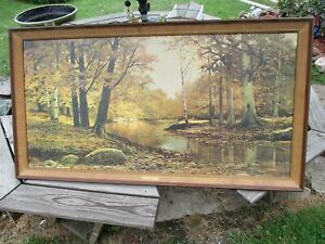 Large Robert Wood Autumn Bronze Painting Reliable Union 5932F Copy Print