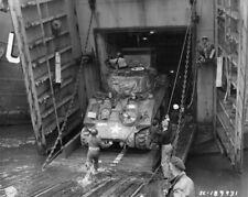 WW2 Photo WWII US Army M4 Sherman Tank Omaha Beach 8 June 44 World War Two/ 3141
