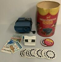 Vintage GAF View Master Theater in the Round Set 1970s 25+ Reels + Handheld LOT