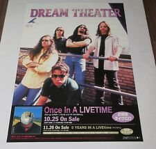 DREAM THEATER rare JAPAN PROMO ONLY 1998 release POSTER more DT listed LIVETIME