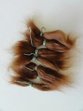 MOHAIR for rooting- REBORN Doll making supplies 20g  (0.7 oz) red-brown