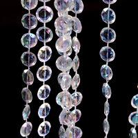 33Ft/10M Guirlande Diamant Perle En Cristal Acrylique Partie De Mariage Ride FE