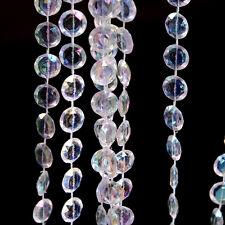33FT/10m guirlande diamant Perle en cristal acrylique partie de mariage Rideau