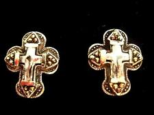 Quality 925 Sterling Silver Marcasite Bling Cross Large Stud Earrings 18mm Boxed