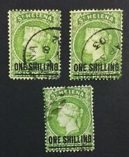 MOMEN: ST HELENA SG #45 1884-94 CROWN CA 3 CANCELS USED £90 LOT #5140