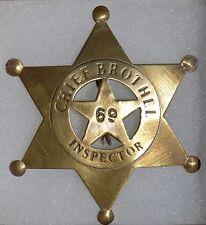 Chief Brothel Inspector Replica Sheriff Western Badge Police Marshal PH413