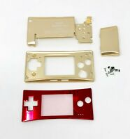 BRAND NEW Game Boy Micro Full Housing Shell Replacement GBM W/ Faceplate Famicon
