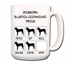Bluetick Coonhound Stubborn Tricks Extra Large 15oz Coffee Mug