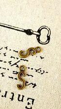 Alphabet letter S charm bronze vintage style jewellery supplies C32