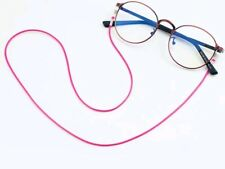 Pink waxed cord chain lace lanyard strap string eyeglasses magnify sunglasses