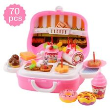 Vokodo 70 Piece Dessert Kitchen Toy Playset Includes Cake Candles And More TK-11