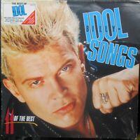 BILLY IDOL SONGS 11 OF THE BEST LP Lyric Inner Chrysalis BILTV1 1988