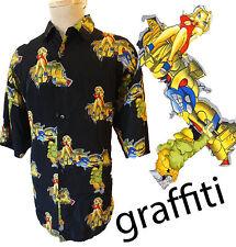 Spray paint Graffiti hawaiian shirt hip hop gangster banksy low rider patchuko