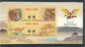 Indonesia 2014 WWF Tigers Fauna Animals  Miniature sheet MNH