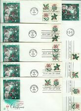 Christmas 1964 USA 1st Se-tenant Multiple Stamp issue Set 9 Singles Pairs Block!