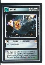 Star Trek CCG 34th Rule of Acquisition Foil Mint/Near Mint with FOIL LINE