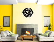 Yoga Symbol Om Sun Circle Spiritual Sanskrit Wall Mural Vinyl Art Sticker M533