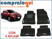 TAPPETI PER NISSAN JUKE TAPPETINI AUTO SU MISURA IN MOQUETTE + 4 RICAMI TOP