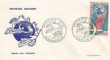 ENVELOPPE PREMIER JOUR MADAGASCAR TANANARIVE UNION POSTALE UNIVERSELLE 02 1963