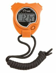 New Champion All Sports Walking Running Stopwatch Timer Daily Alarm Orange
