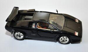 Modello auto Burago Lamborghini Countach 1:18 Nera 1988