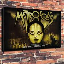 "Metropolis Fritz Lang Classic Movie Printed Box Canvas A1.30""x20""~Deep 30mm"