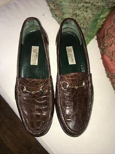 GUCCI MENS CROCODILE LOAFERS