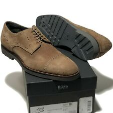 c67299a19 Hugo Boss Italy Brown Suede Leather Oxford Men's Dress Shoes 9.5 Casual  Beige