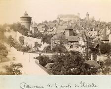 Nuremberg, porte de Halle Vintage albumen print  Tirage albuminé  11x16  C