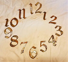"3"" Gothic Old English Numbers 1-12 Rough Rusty Metal Vintage Clock Set Craft DIY"