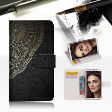 Gold pattern Mandala Wallet TPU Case Cover For OPPO A73 -- A035