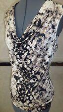 Designer Ladies ALFANI Sequin Animal Print Sleeveless Top Blouse Size M MSRP$79