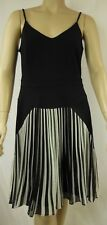NEW City Chic Black Ivory Strappy 50's Pleat Diva Dress Plus Size XS 14 #C1109
