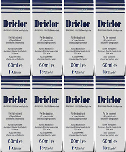 Driclor Under Arm Antiperspirant Roll On - 60ml X (PACK OF 8)