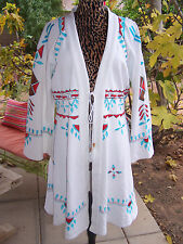 NWT~285~Western Cheyenne Southwestern Embroidered Duster Cover up Jacket~XL~Roja