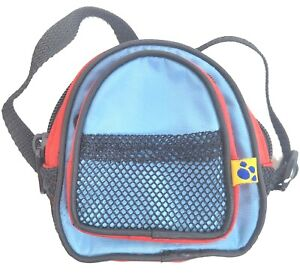 """Build A Bear Backpack for BAB Plush Animals 4.5"""" Adjustable Straps Red Blue"""