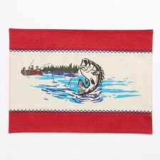 Sonoma Fishing on the Lake Outdoorsy Design Placemats (Set of 2) 13x18 Cotton