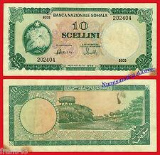SOMALIA 10 Shillings scellini 1968 Pick 10  MBC /  VF