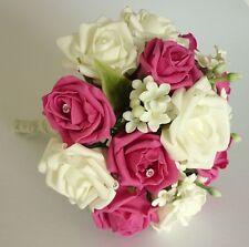ROSA Brillante e JASMINE artificiale Damigelle BOUQUET-matrimonio fiori