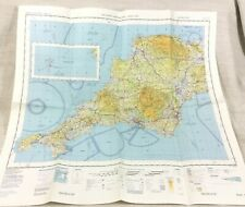 1980 Military Map of Cornwall Plymouth South West UK RAF Aviation Aeronautical