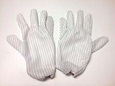 New - 5 Pair ESD Hot - Anti Static Men's Gloves - Elastic Cuff - Medium
