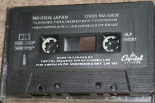 IRON MAIDEN MAIDEN JAPAN 1981 CASSETTE ORIGINAL CAPITOL #4LP15000 CANADIAN TAPE