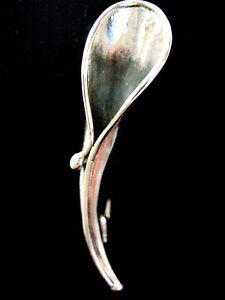 Gentlemans Solid Silver posy flower holder lapel pin boutonniere brooch Poirot