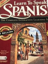 The Learning Company: Learn To Speak Spanish Ver 8.0 Four Cd Set Big Box Pc New