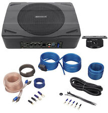 Rockville SS8P 400 Watt Slim Under-Seat Powered Car/Truck Subwoofer Sub+Amp Kit