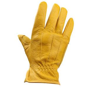 Men Women Premium Buckskin Stretch Outdoor Biking Touchscreen Winter Warm Gloves