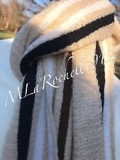 NWT: $58.00 ~ GEOFFREY BEENE Fringed Scarf Neutral Colors Tan, Black, Brown