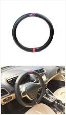NEW STI Black Carbon Fiber Luxury Car Steering Wheel Cover For Subaru Sport WRX