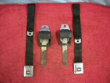 1966-67 Corvette Seat Belts, Black